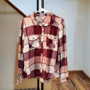 Maurices Flannel Top